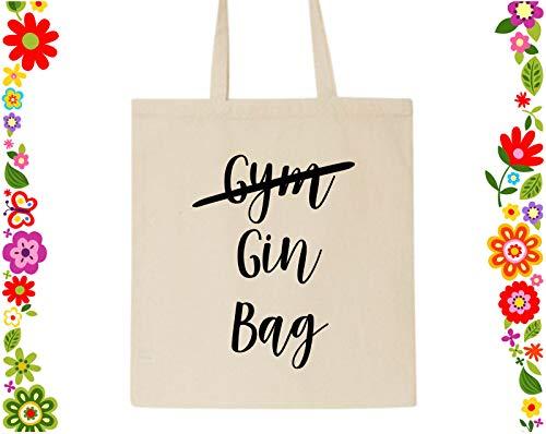 Not Gym Gin Tote Bag Canvas Bag Geschenk für Ihre Mutter Geschenke Wiederverwendbar Lebensmittelbeutel Brautjungfer Geschenk Gin Lover Geschenk Gin Geschenk Gin Geschenk