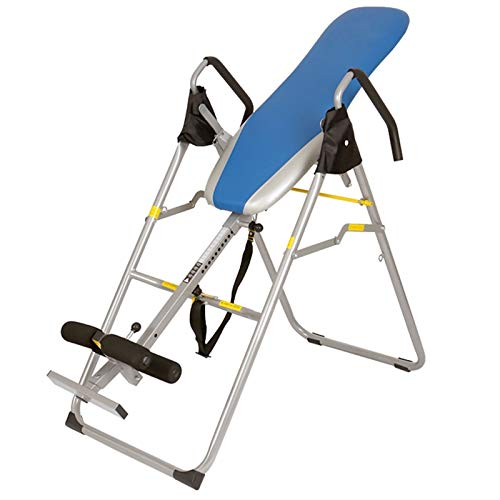 LQQ Gravity Inversion Table Heavy Duty Inverted Machine Adjustable Protective Belt Back Stretcher Trainer Foldable Inversion Equipment for Pain Back Relief