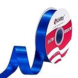 Lkitty 25mm x 45m/rollo Cinta de satén de doble cara 100%tela de poliéster para envolver regalos...
