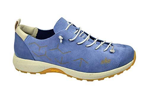 Lomer Spirit Plus Tiefer Schuh mit Vibram-Sohle, Obermaterial Veloursleder gefüttert und hoch atmungsaktiv, Schnürsenkel, Herren, Blau - Indigo - Größe: 42 EU