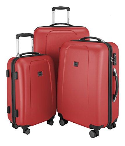 Hauptstadtkoffer HAUPTSTADTKOFFER – Wedding - Set of 3 Hard-Side Luggages Trolley Hardside Hard Shell Suitcase Expandable, TSA, (55 cm, 65 cm & 75 cm), Red