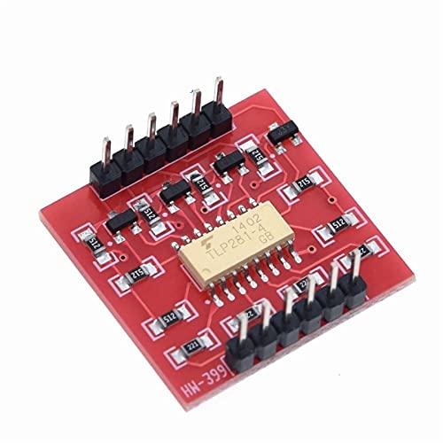 Jgzwlkj Optoacoplador TLP281 4 CH Módulo IC opto-aislador de 4 Canales para la Placa de expansión de Arduino Aislamiento de optoacoplador de Alto Nivel y bajo Nivel 4 Canales (Color : TLP281-4)