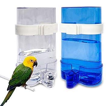 Distributeur Automatique d'eau pour Perroquet Automatique d'Aliments Abreuvoir pour Perroquet Distributeur d'Eau et de graines Distributeur Automatique de graines pour Oiseaux Perruches Cockatiels