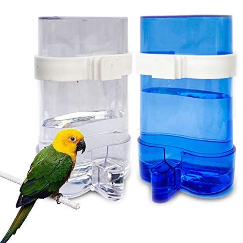 Dispensador de Agua para Loros Comederos Cockatiel Alimentador de Agua para Loros Contenedor Automático de Bebidas de Agua Comedero para bebederos de plástico para Aviario Periquitos Cacatúas Loros