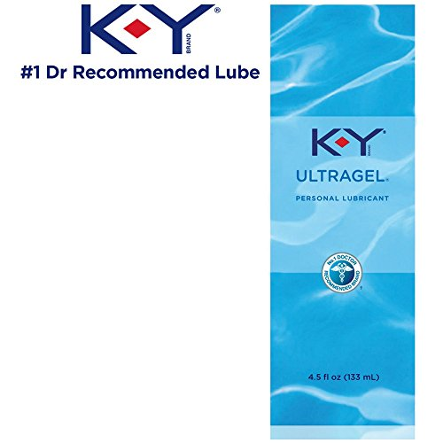 K-Y UltraGel Premium Water Based Lube- Personal Lubricant Safe to Use with Latex Condoms, Devices, Sex Toys and Vibrators, 4.5 oz (Pack of 3)