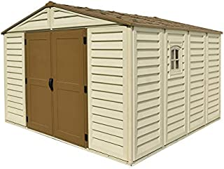 WoodBridge Plus 10 ft. x 10 ft. Vinyl Outdoor Garden Storage Shed