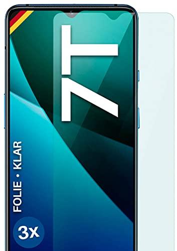 moex Klare Schutzfolie kompatibel mit OnePlus 7T - Bildschirmfolie kristallklar, HD Bildschirmschutz, dünne Kratzfeste Folie, 3X Stück