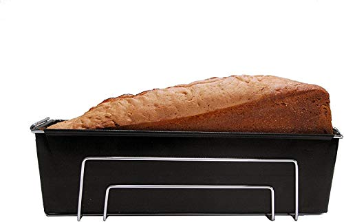 Durandal Kastenform Brotbackform   Brotform Wiederverwendbar   Backform rechteckig   Ideal als Kuchenform & zum Brot backen   Silikon Backform Alternative