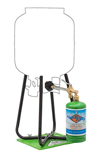 Flame King Refillable 1 lb Empty Propane Cylinder Tank - with Refill Kit and CGA600 Connection - Reusable - Safe and… 3