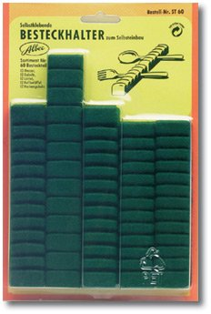 Besteckhalter Set dunkelgrün für 60-tlg. Besteck Albec