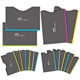 Aerb RFID Blocking Sleeves, Set of 16 (12 Credit Card Holders & 4 Passport Protectors) for Identity Theft Protection,...