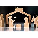 lisel-de Krippe Hippe Krippe Krippenfiguren aus Holz/Weihnachtskrippe Kinderkrippe Holzkrippe