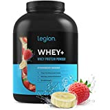 Legion Whey+ Whey Isolate Protein Powder from Grass Fed Cows - Low Carb, Low Calorie, Non-GMO, Lactose Free, Gluten Free, Sugar Free. Great For Weight Loss & Bodybuilding, 5 Pounds (Strawberry Banana)