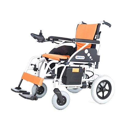 GJJSZ Carrozzina portatile,sedia a rotelle elettrica per anziani con batteria al Litio pieghevole a Quattro ruote leggera pieghevole per Scooter a batteria al litio-03