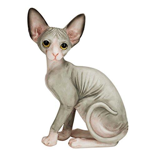 "Willis Judd Sphynx Hairless Cat Hand Painted Statue Figurine 4.1"""