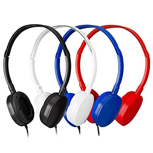 Bulk Headphones Kids Headphones for Kids,Classroom Headphones for Grils,Boys -YMJ(Y4 Color Mixed) Earphones Headphones for Students, Libraries, Laboratories