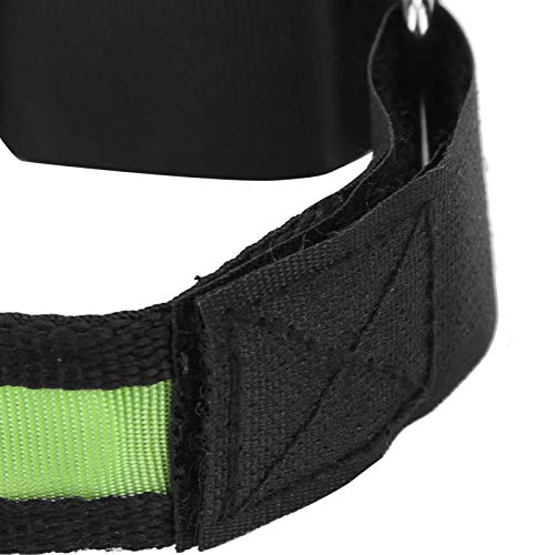 Pulsera intermitente, amplia aplicación Pulsera LED para correr Tamaño de brazo apropiado para fitness para entrenamiento muscular para protección deportiva para deportes al aire libre(green)