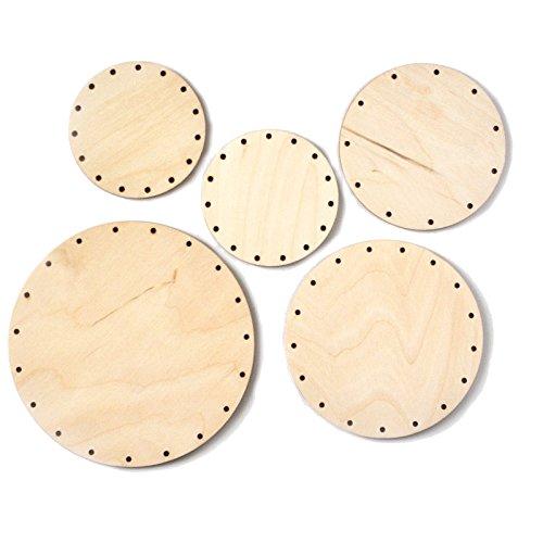Zita's Creative Korbboden Set rund, klein für Peddigrohr 3mm - Flechten, Korbflechten, Schilf Set, Peddigrohr, Flechtmaterial, Flechtset, Rattan