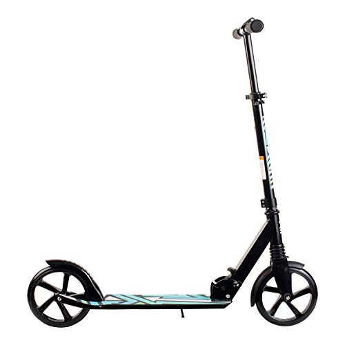 Retrospec Ripper-500 2-Wheel Kick Scooter for Kids 8+ and Adults with Padded Handlebars, PU Wheels, and Grippy Deck