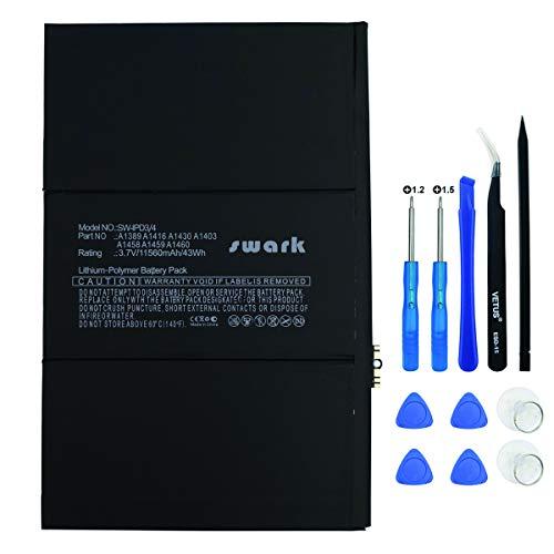 Swark A1389 Akku Kompatibel mit Apple iPad 3 3rd 4 4th A1389 A1416 A1430 A1403 A1458 A1459 A1460 616-0586 616-0593 616-0604 969TA103H 969TA110H + Tools