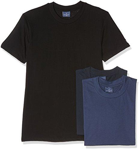 Navigare 513, Maglietta Uomo, Pacco Da 3, Multicolore (Nero/Navi/ Jeans), XXX-Large (Taglia produttore:8)