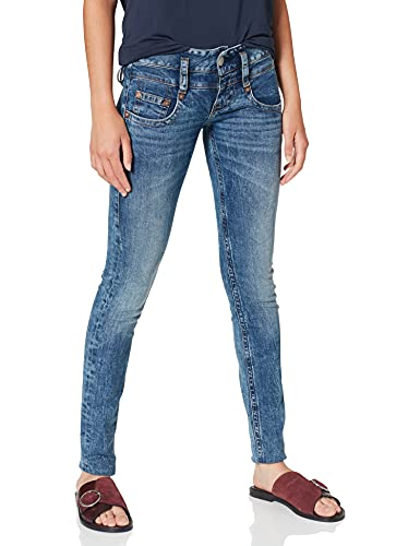 Herrlicher Damen Pitch Slim Jeans, Blau (Fringe 765), W30/L30 (Herstellergröße: 30)