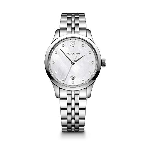 Victorinox Women's Alliance Swiss-Quartz Watch with Stainless-Steel Strap, Silver, 17 (Model: 241830)