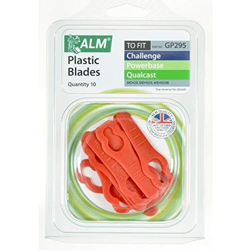 GP295 ALM - Cuchillas de plástico para cortacésped (10 unidades, MEH1129b Meb929, Qualcast Electric Hover Meh