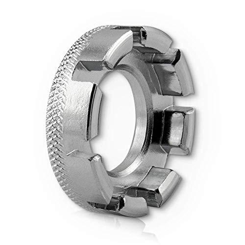 Fahrrad Speichenschlüssel Rad Zentrierer 8-fach Teller Schlüssel für Speichen Größe 10-15 von Fahrrad bis Mofa in Werkstattqualität! Nippelspanner- Speichenspanner – Spanschlüssel. - 2