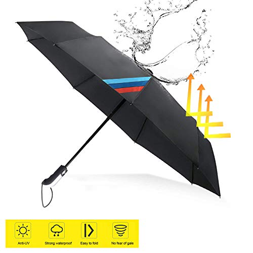 OYADM M line Auto Sport Fully Automatic AUTO Open Large Folding Umbrella Windproof Sunshade for BMW