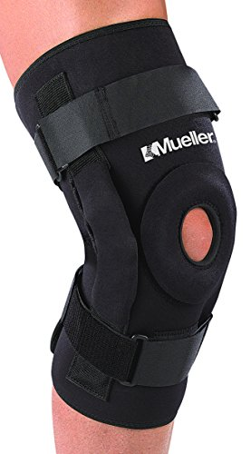Mueller Pro Level Hinged Knee Brace Deluxe, Black, XXXL | Includes Lockout Tool Kit