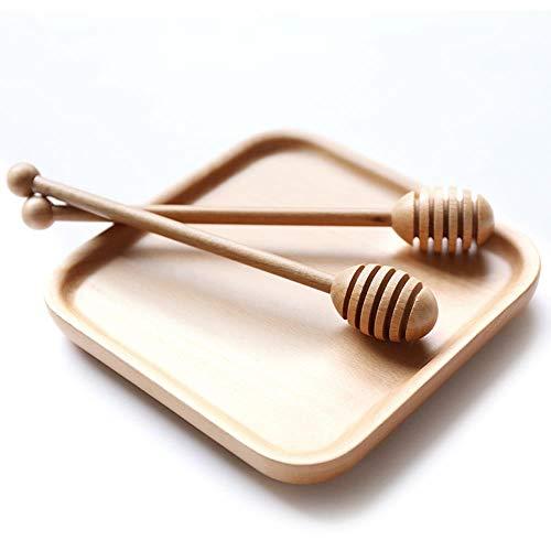 Ethan Honingraat Natuurlijke Log Honing Roer met een Zoete Aardappel Stick Jam Servies Melk Theemixer