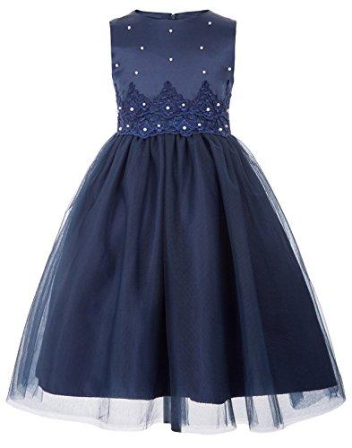 A-Linie Marineblau Aermellos Festzug Blumen Kleid 10-11 Jahre