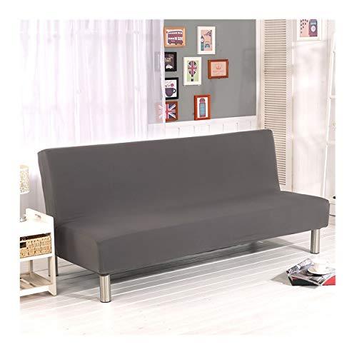 Cornasee Sofabezug 3 sitzer ohne armlehne - Clic Clac Sofahusse Stretch Bettcouch Schonbezug Einfarbig,Grau