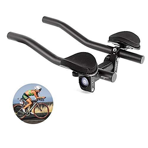 DSRong TT Handlebar Aero Bars Bicycle Rest Handlebar Bike Aluminium Alloy Arm Rest Handlebar Triathlon Aero Bicycle Tri Bars Relaxlation Handlebars for Road Bike and Mountain Bike