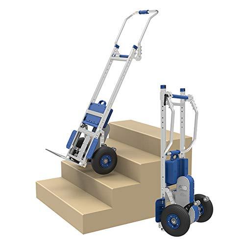 WSHA Carro eléctrico Plegable para Subir escaleras, Carro automático, Carro de Mano para Escalar escaleras, 370 Libras de Carga máxima, batería de Litio de 48 V y 6,6 Ah