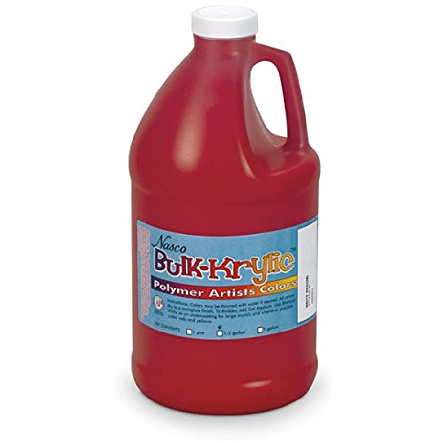 Nasco 9714720(M) Bulk-Krylic Acrylic Paint, 1/2 gal Jug, Bright Red