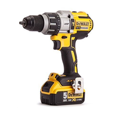 DEWALT DCD996P2-GB 18 V 3 Speed Cordless XR Brushless Combi Drill with 2 x 5 A Batteries in TSTAK - Yellow/Black by DEWALT