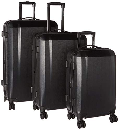 Travelers Club Check-in Suitcase, Black