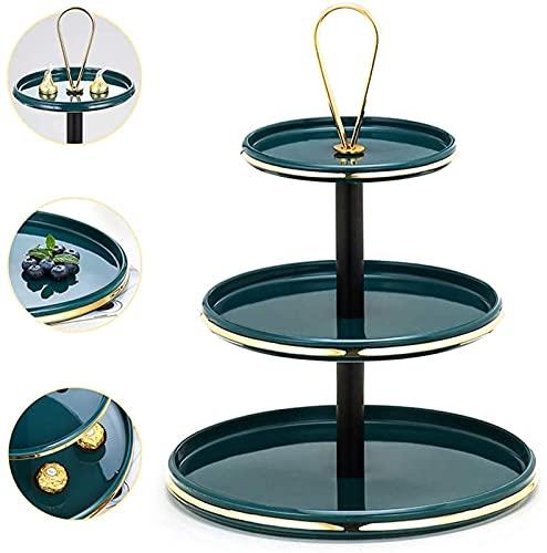 YANSJD 3-Tier-Obstkorbschale aus Metall, Obsttisch auf der Arbeitsplatte Trennbarer Korb & mdash; Dekorativer Tischschalenständer mit großer Kapazität Moderne Küche für das Wohnzimmer zu Hause
