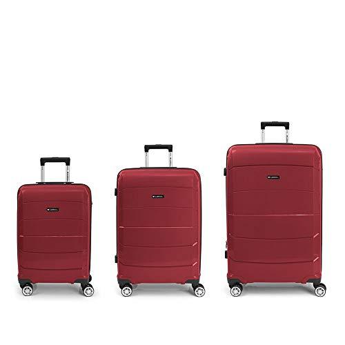 GABOL Set 3 Maletas C-M-L, Adultos Unisex, Rojo (Rojo), Talla Única