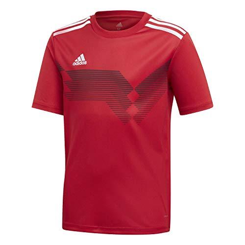 adidas Campeon 19 Camiseta De Fútbol De Manga Corta, Unisex niños, Poder Rojo/Blanco, 910A