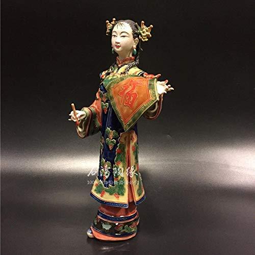 WPXBF Estatuas Figuritas Decoración Escultura Figuritas Decorativas Estatuas Cerámica Clásica Mujeres Hermosas Arte Pintado Estatua Femenina Antiguos Ángeles Chinos Señora Figuras De Porcelana DEC