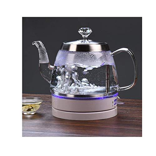 Kessel Glas Wasserkocher einfach und großzügig Design, hohe Borosilicatglaskörper gesund kochendes Wasser sicher und sorgenfrei, LED-Licht blau-Display, 1L