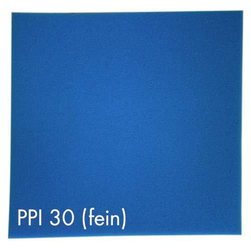 Pondlife Teich - Filterschaum/Filtermatte blau 100 x 100 x 5 cm fein PPI30