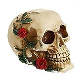Hainice Halloween Skull Resin Ornamento Realista Cráneo Cabeza...