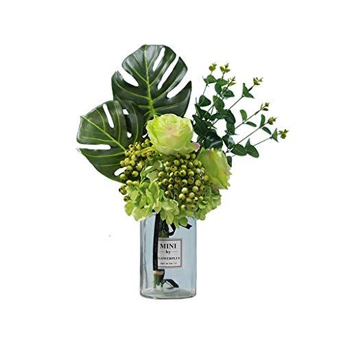 LHY- Gefälschte Blumen-Ausgang Wohnzimmer Esstisch Vase Kleiner Blumenschmuck Dekoration Silk Blume Gefälschte Blume Mode