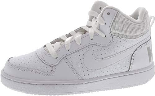 Nike Court Borough Mid (GS) Sportschuhe Kinder Sneaker Sneaker Weiß Sport, Schuhgröße:EUR 40 | US 7Y
