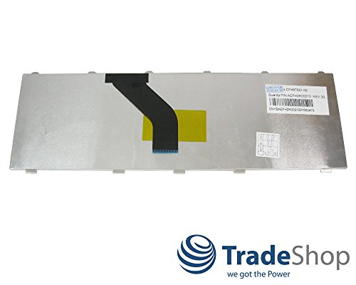 Trade-Shop Premium Laptop-Tastatur/Notebook Keyboard Ersatz Austausch Deutsch QWERTZ für Fujitsu-Siemens Lifebook A530 A531 AH530/GFX AH512 AH530/HD6 AH530 AH531 NH751 (Deutsches Tastaturlayout)
