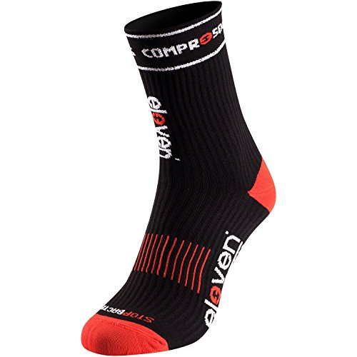 Eleven Kompressionssocke | Kompressionssocken | Laufsocken | Compression Socks | Sportsocke | Damen | Herren zum Radfahren, Laufen, Triathlon, Running und Wandern (Schwarz, XL (EU 46-48))